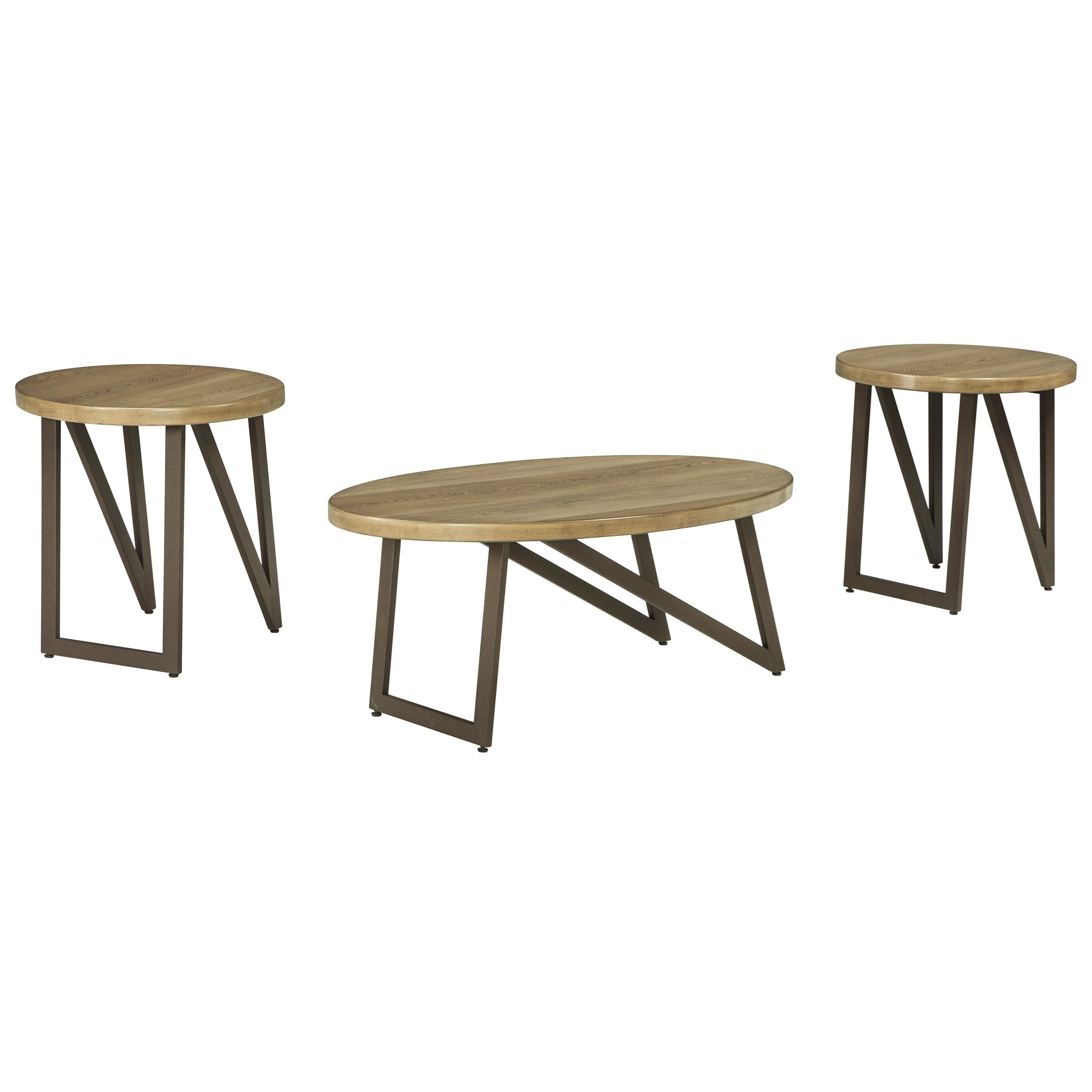 Ashley (Signature Design) Dougetti Occasional Table Set - Item Number: T298-13