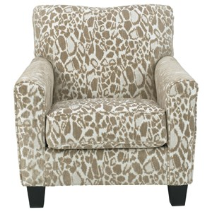 Contemporary Accent Chair in Cheetah Fabric