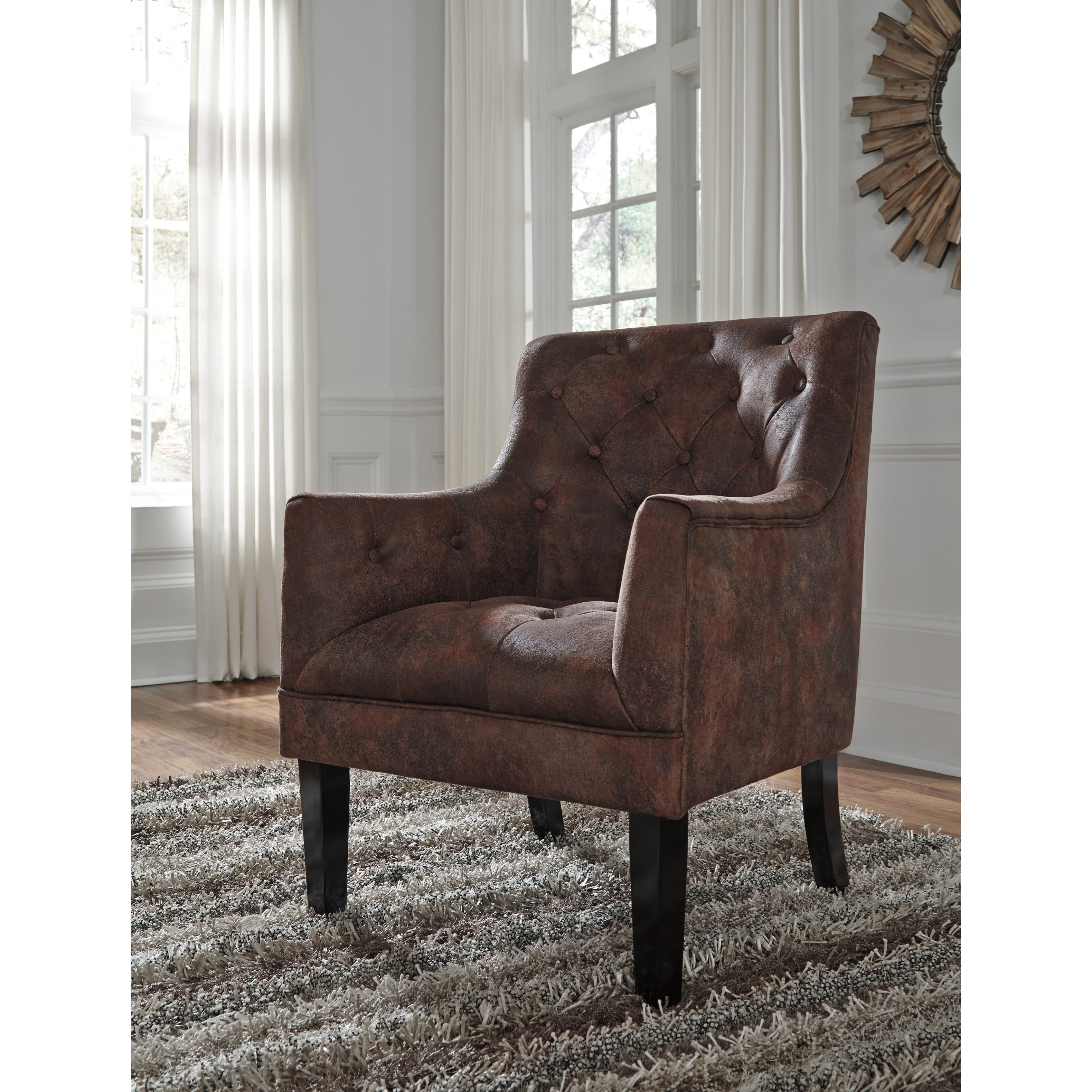 Signature Design By Ashley Drakelle Tufted Accent Chair In