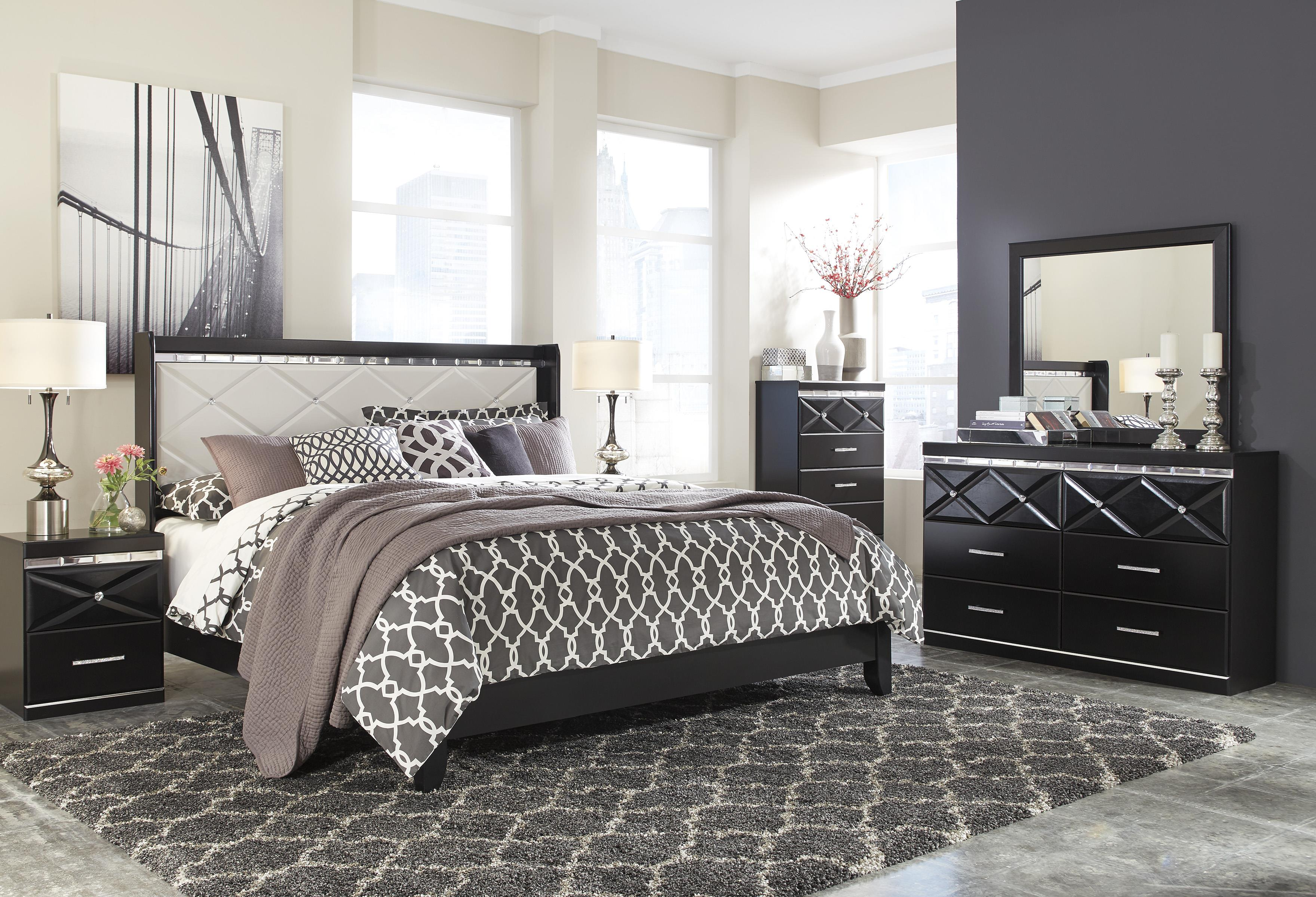 Signature Design by Ashley Fancee King Bedroom Group - Item Number: B348 K Bedroom Group 1