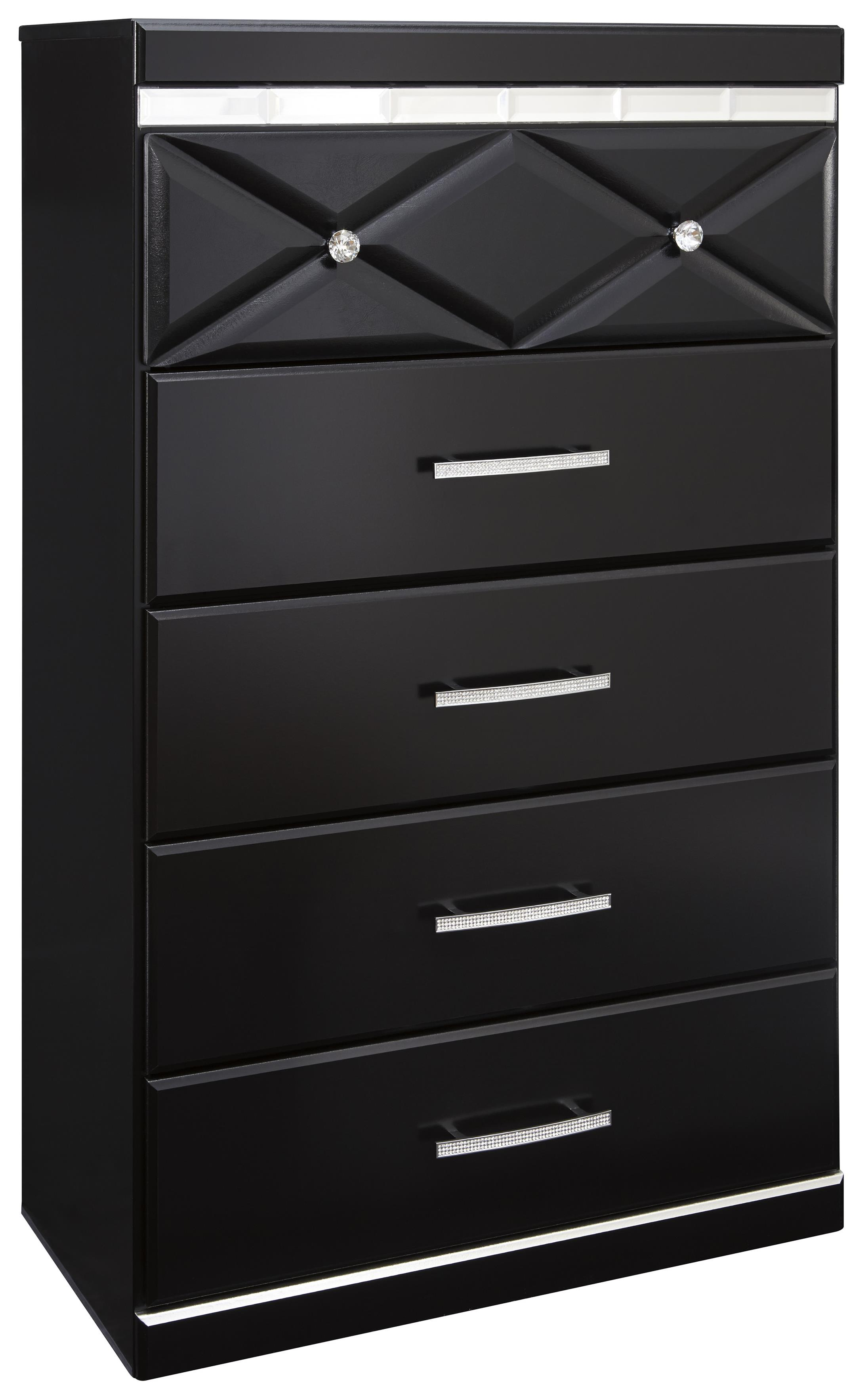 Signature Design by Ashley Fancee Five Drawer Chest - Item Number: B348-46