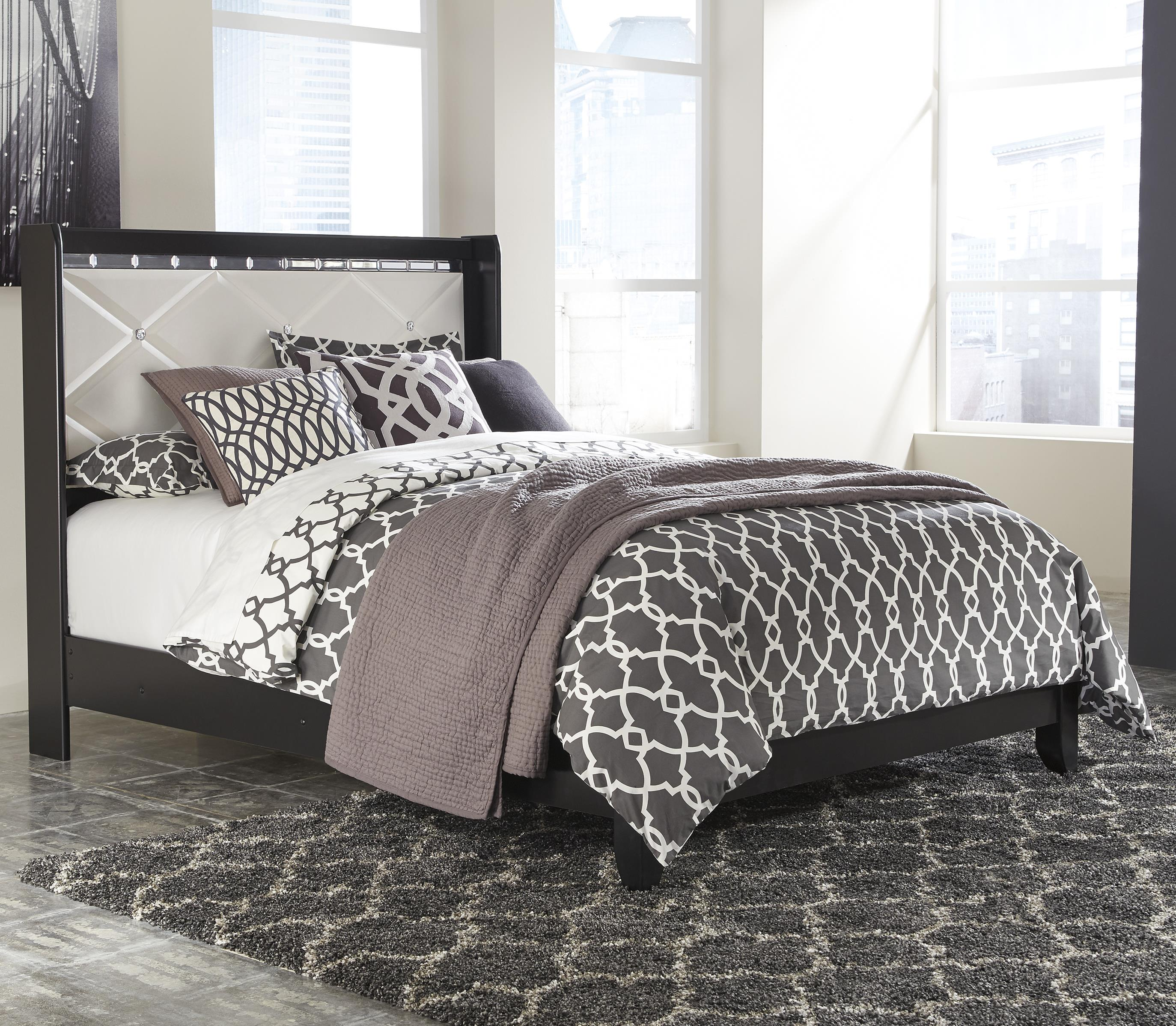 Signature Design by Ashley Fancee Queen Panel Bed - Item Number: B348-57+54