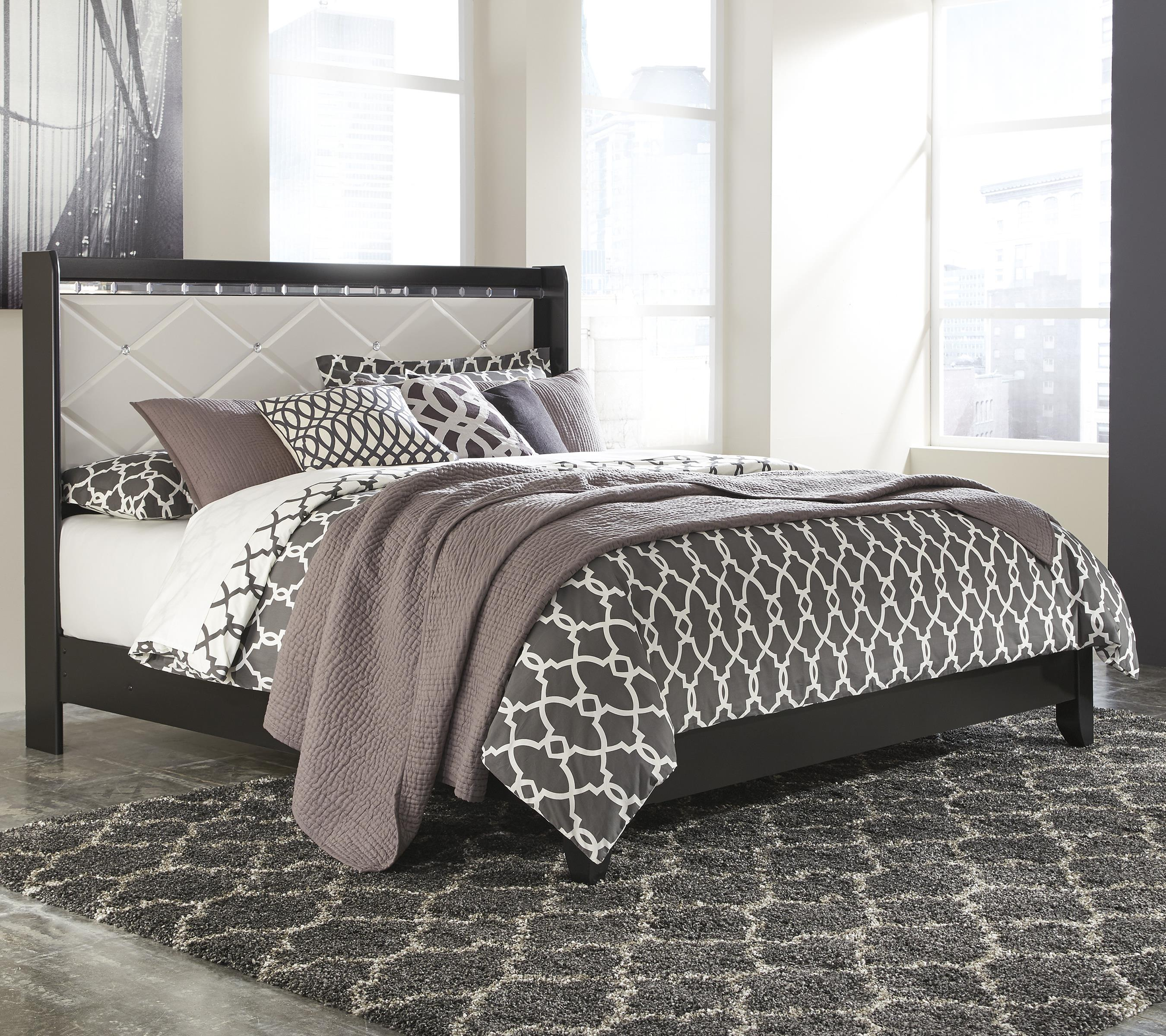 Signature Design by Ashley Fancee King Panel Bed - Item Number: B348-58+56