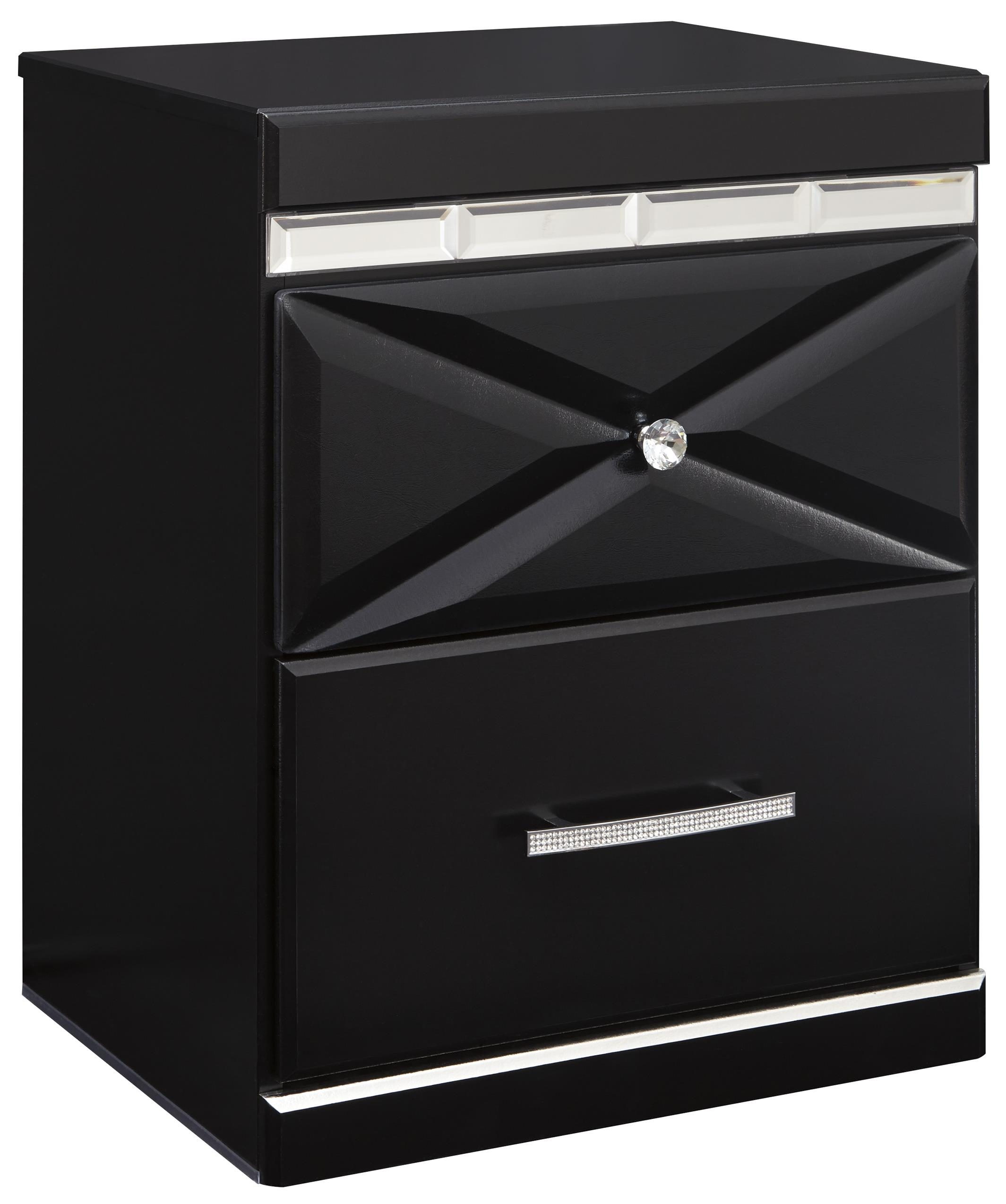 Signature Design by Ashley Fancee Two Drawer Night Stand - Item Number: B348-92