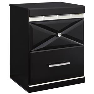 Signature Design by Ashley Fancee Two Drawer Night Stand