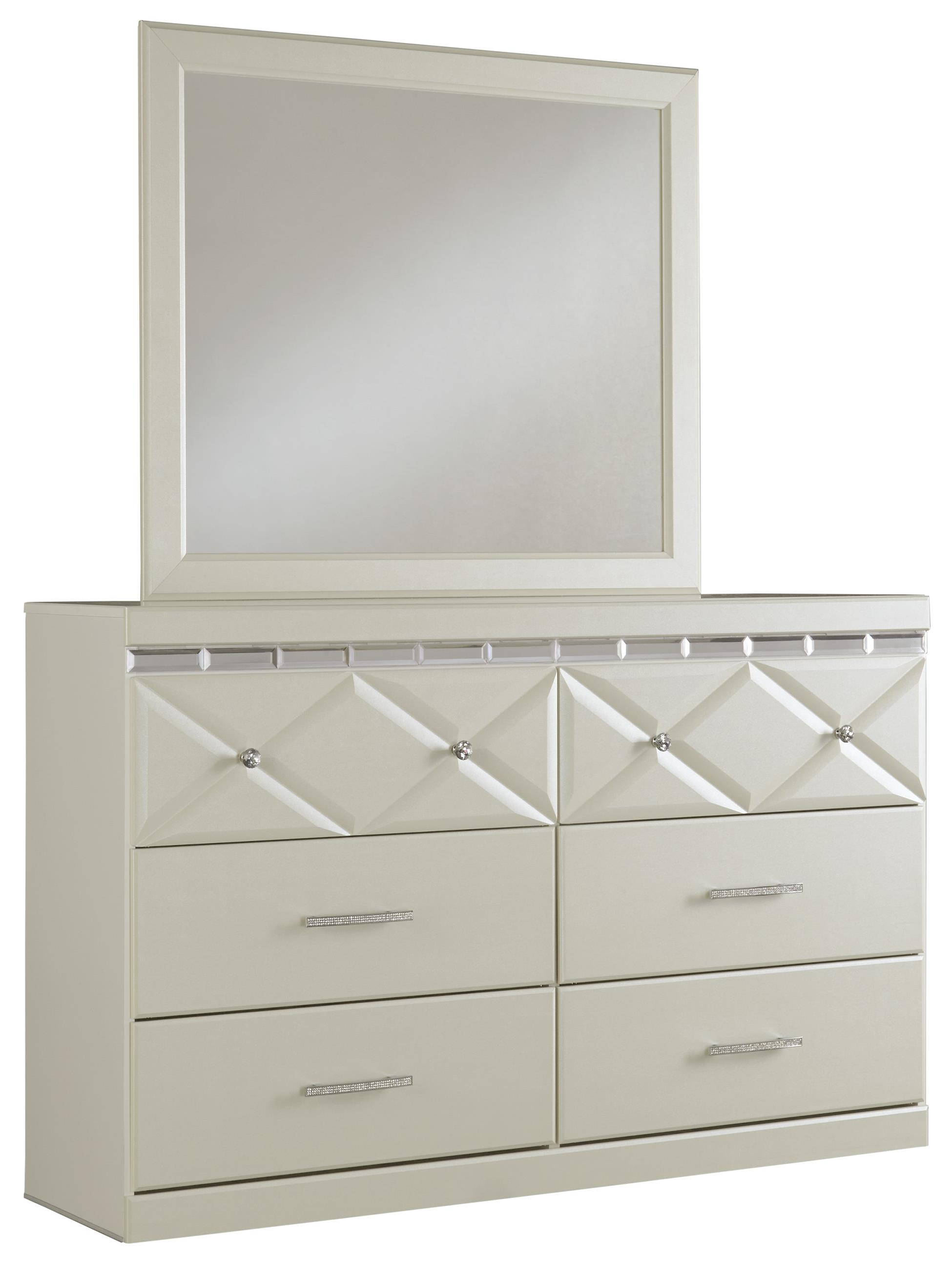 Signature Design by Ashley Dreamur Dresser & Mirror - Item Number: B351-31+36
