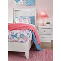 Signature Design by Ashley Dreamur Twin Panel Bed with Faux Crystals
