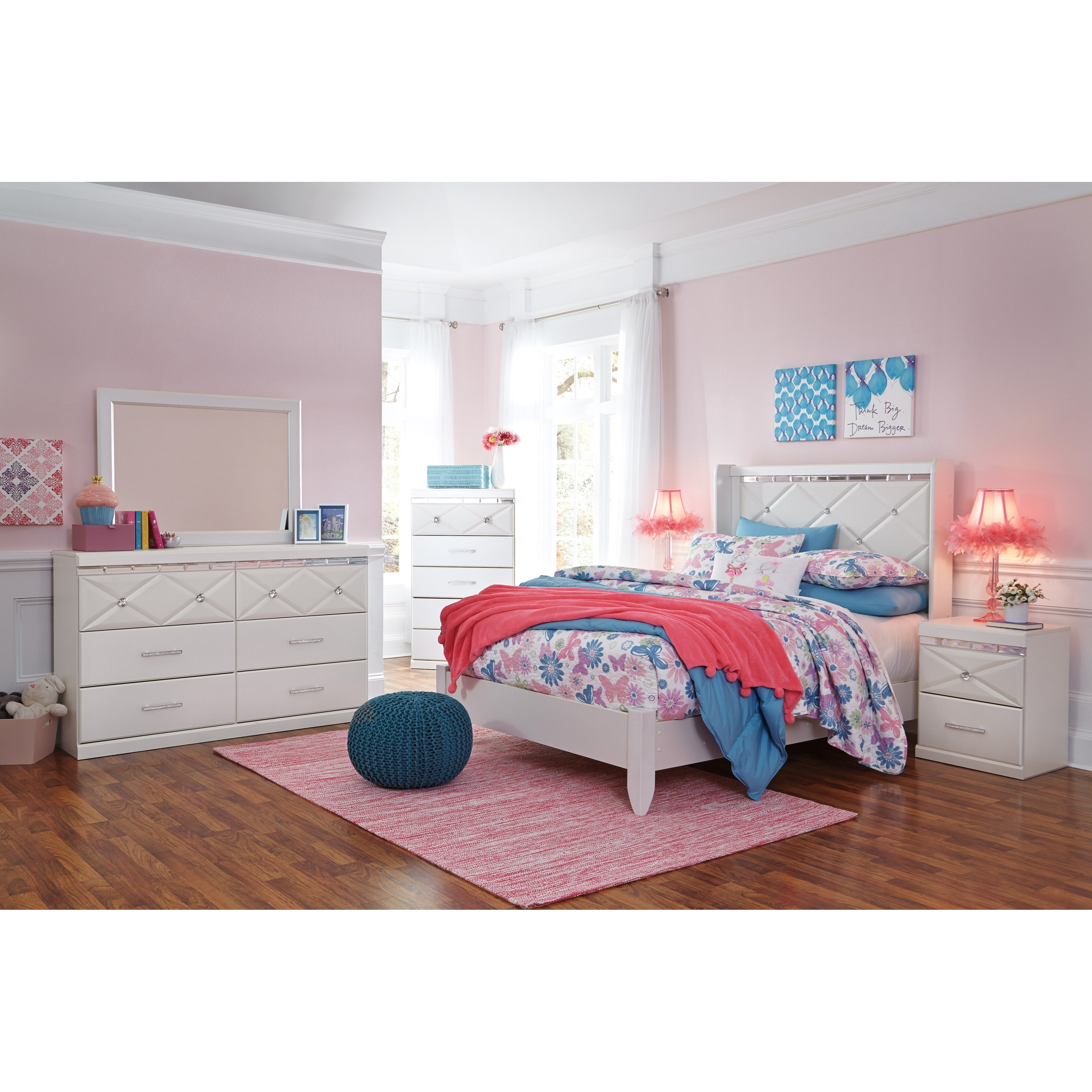 Signature design by ashley dreamur full panel bed with - Ashley furniture full bedroom sets ...