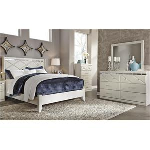Signature Design by Ashley Dreamur Queen Bed, Dresser and Mirror