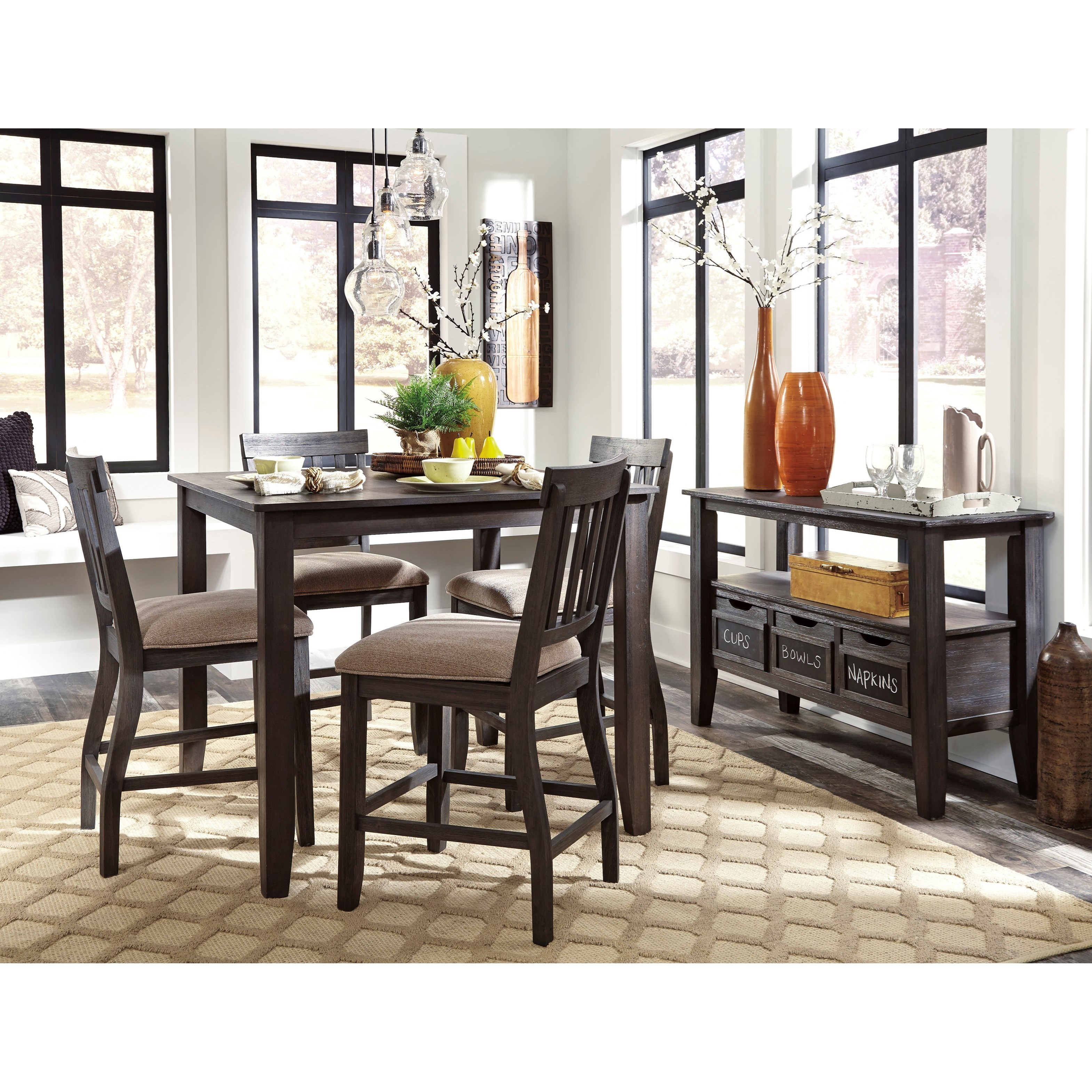 Signature Design by Ashley Dresbar Casual Dining Room Group - Item Number: D485 Dining Room Group 2