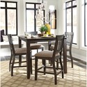 Signature Design by Ashley Dresbar Upholstered Barstool with Slat Back