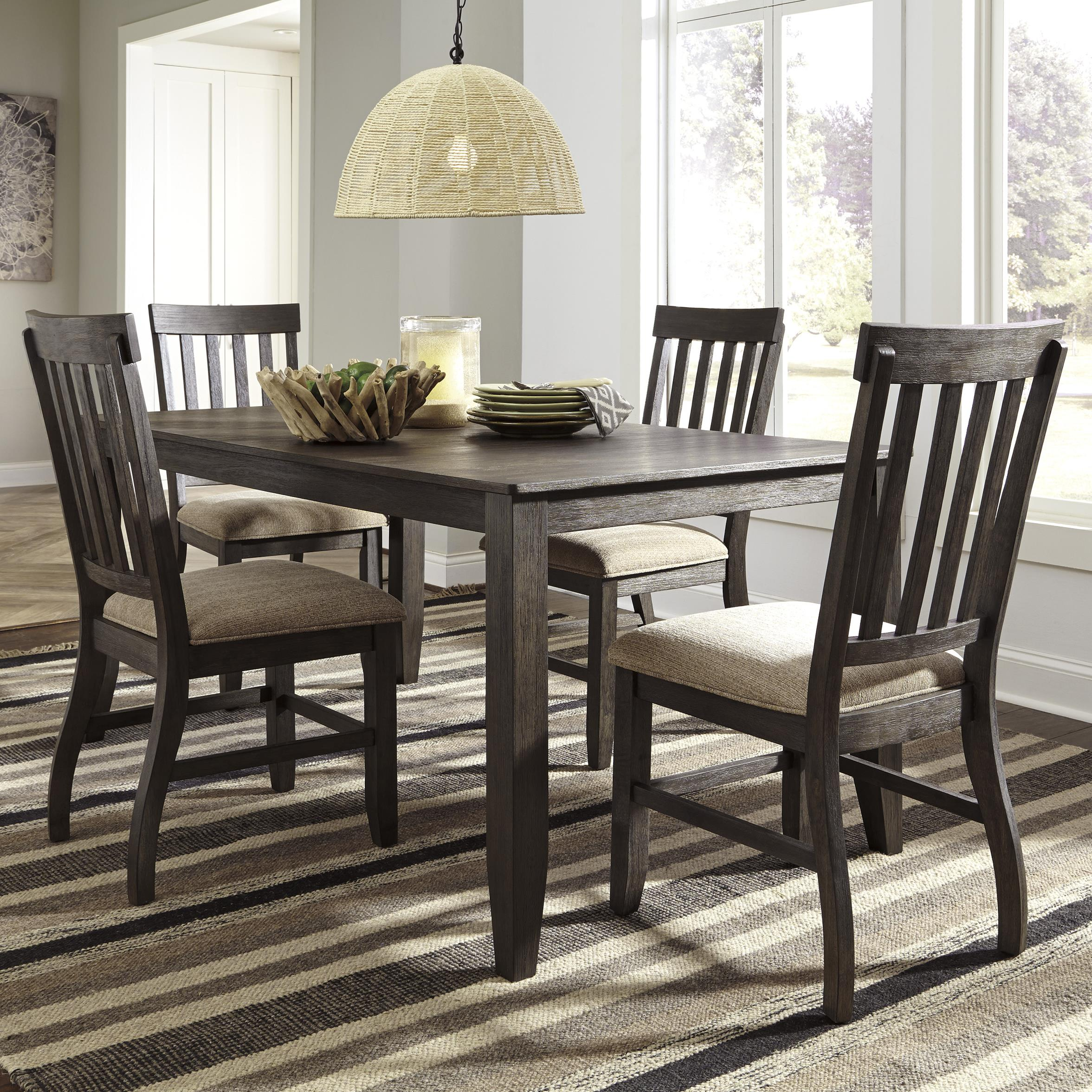 Ashley Signature Design Dresbar 5 Piece Rectangular Dining Table Set