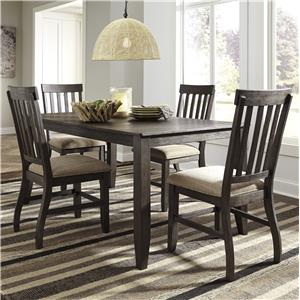 Signature Design by Ashley Dresbar 5-Piece Rectangular Dining Table Set