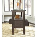 Signature Design by Ashley Dresbar Dining Room Server with Reversible Drawers with Chalkboard Option