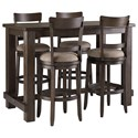 Signature Design by Ashley Drewing Five Piece Chair & Pub Table Set - Item Number: D538-12+4x130