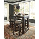 Signature Design by Ashley Drewing Relaxed Vintage Upholstered Swivel Barstool with Nailhead Trim