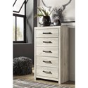 Signature Design by Ashley Cambeck Rustic 5-Drawer Chest with Metal Hardware