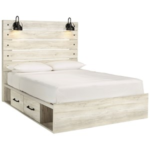 Queen Storage Bed with 2 Drawers
