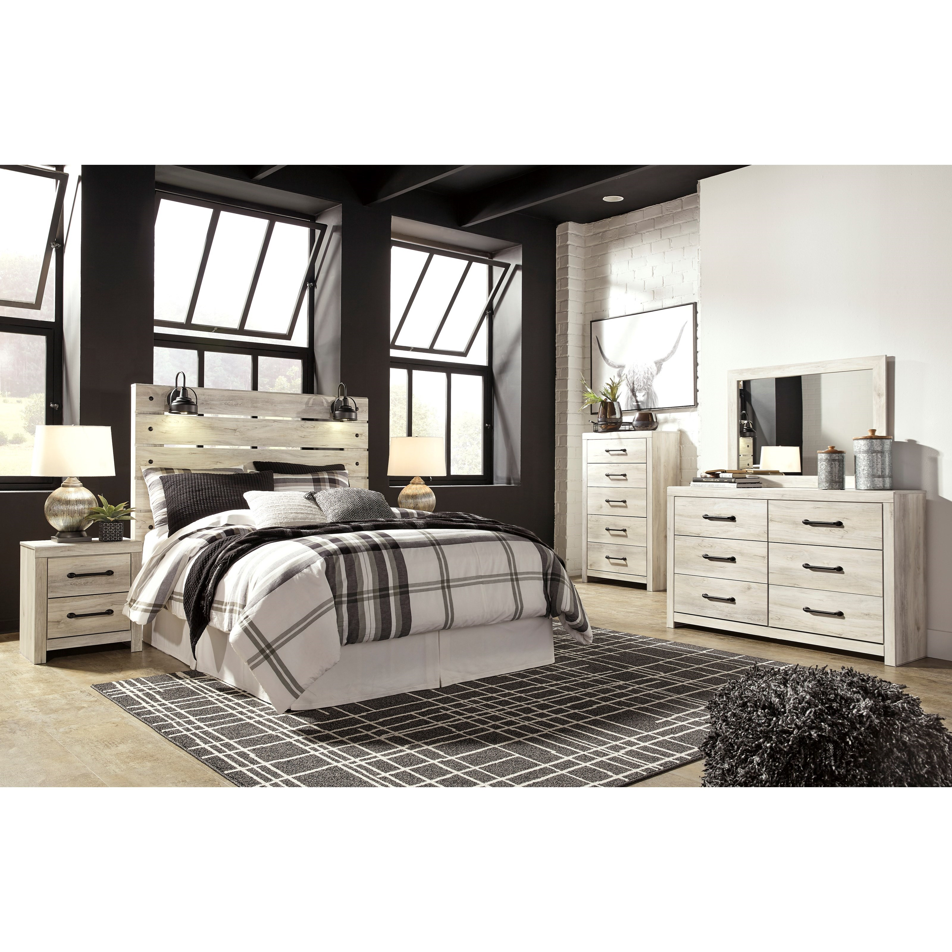 Signature Home Furnishings: Signature Design By Ashley Cambeck Rustic Queen Panel