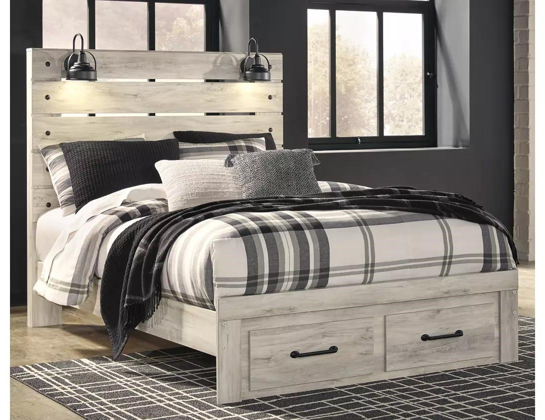 Cambeck Queen Panel Storage Bed by Ashley (Signature Design) at Johnny Janosik