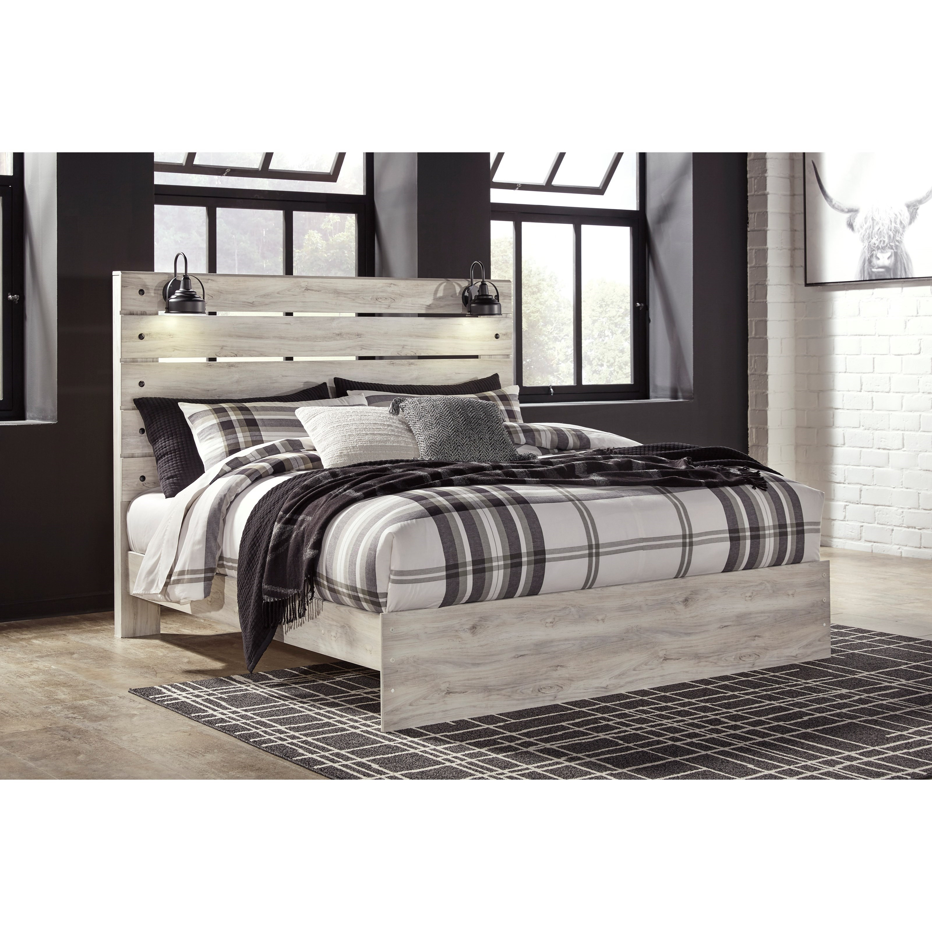 Signature Design By Ashley Cambeck Rustic King Panel Bed
