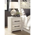 Signature Design by Ashley Cambeck Rustic 2-Drawer Nightstand with USB Ports
