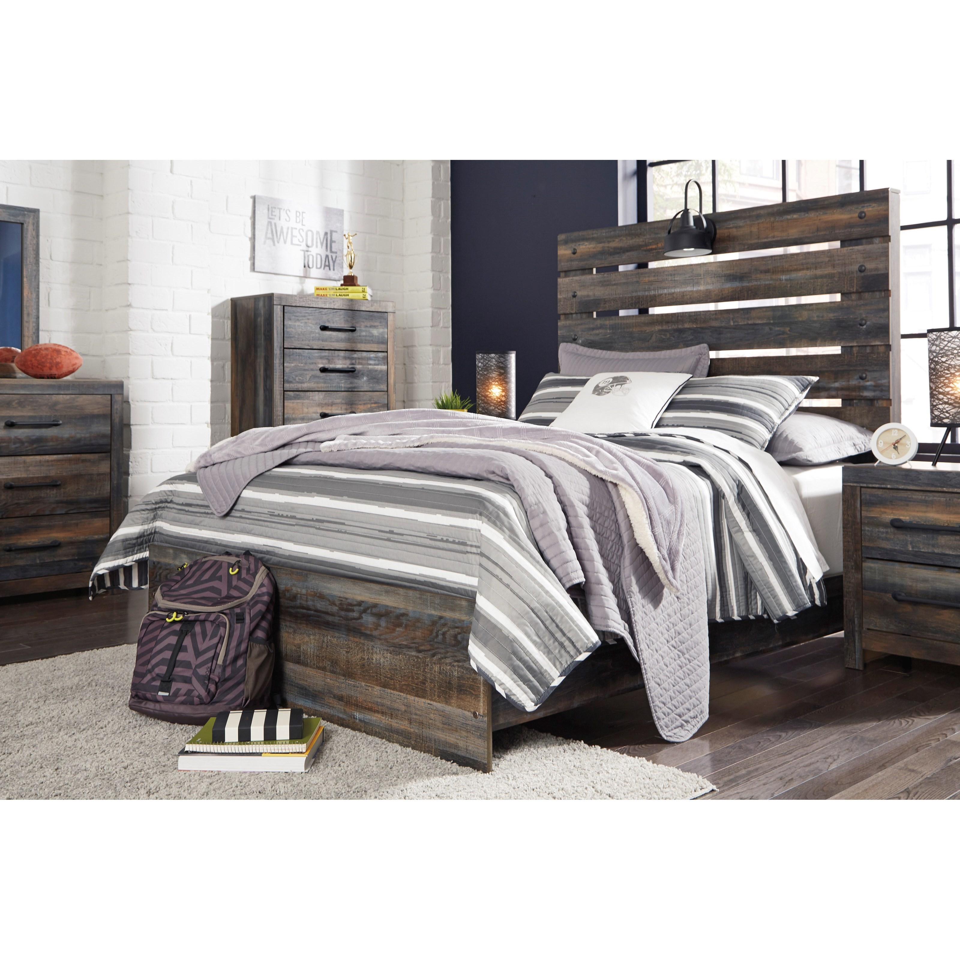 Signature design by ashley drystan full bedroom group - Ashley furniture full bedroom sets ...