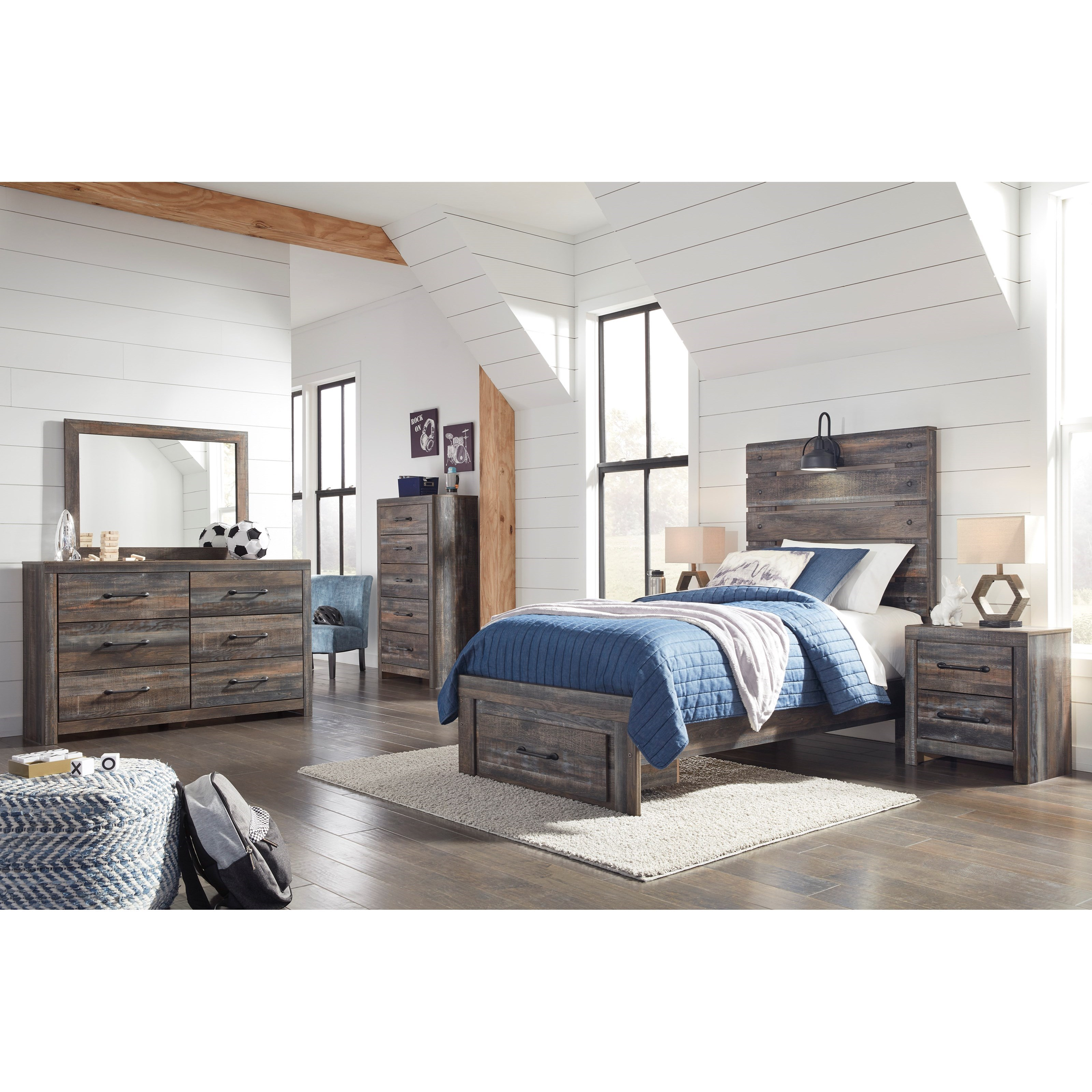 Drystan Twin Bedroom Group by Signature Design by Ashley at Northeast Factory Direct