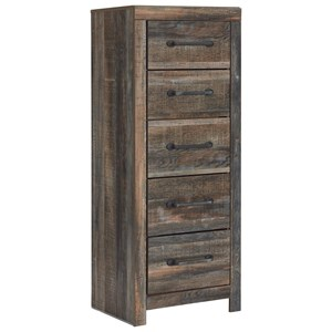 Rustic Narrow 5-Drawer Chest