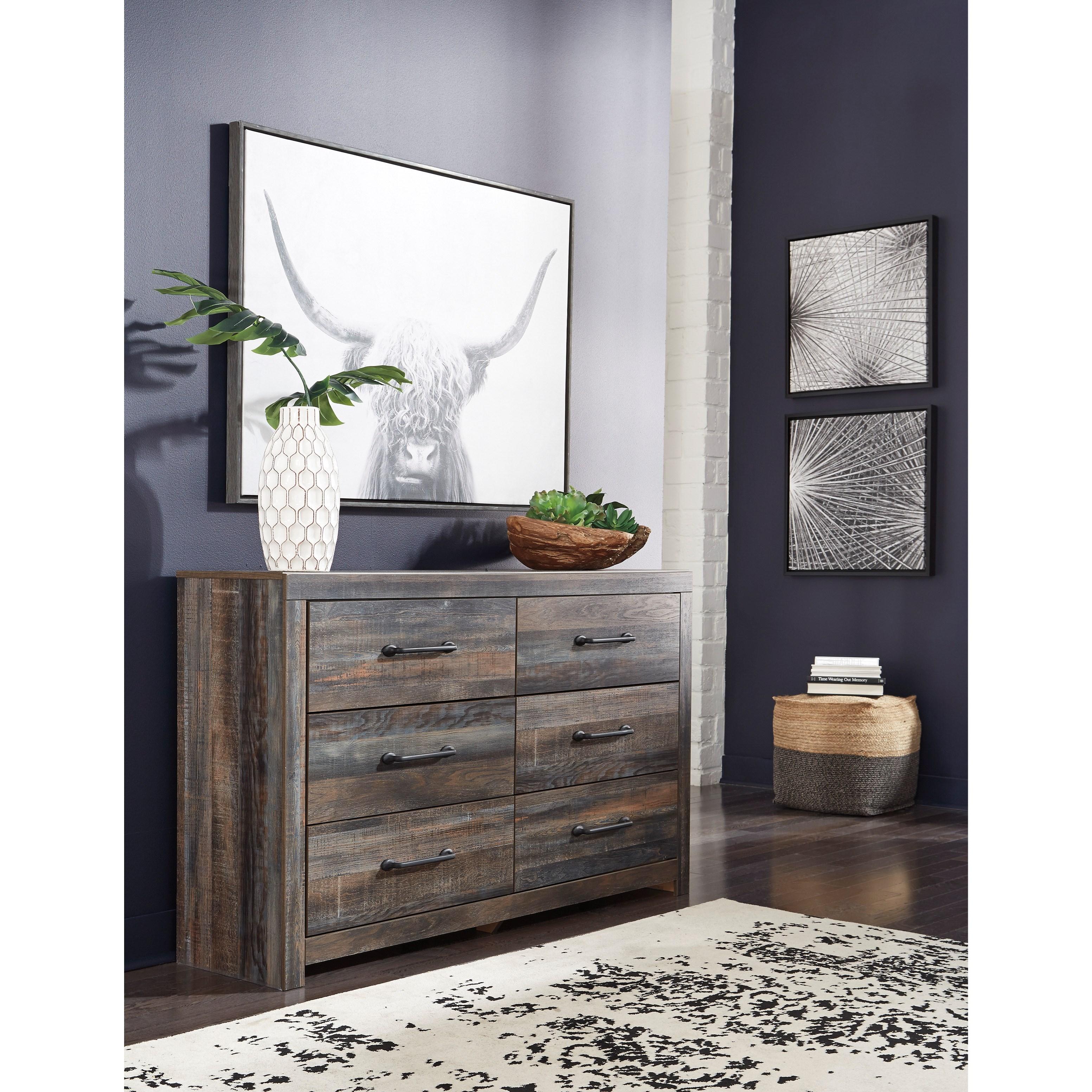Ashley Furniture In Colorado Springs: Signature Design By Ashley Drystan Rustic 6-Drawer Dresser