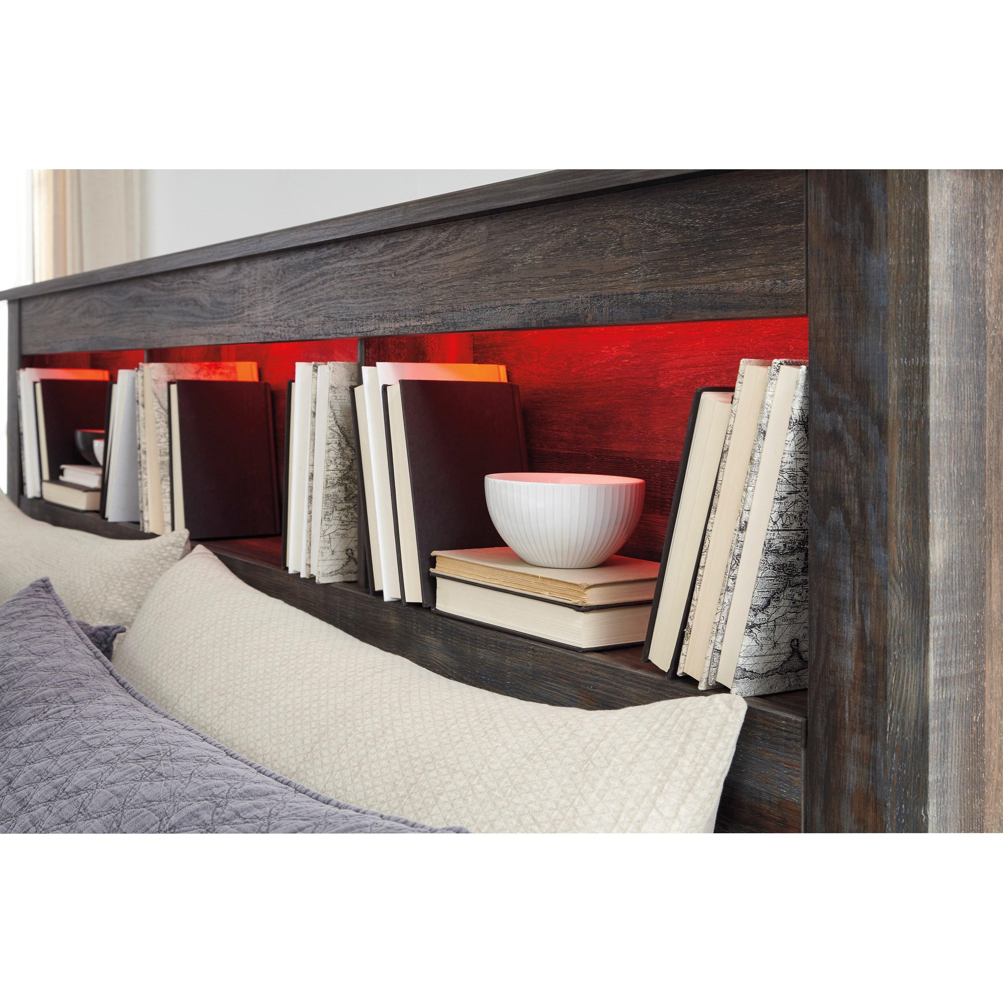 Cal King Bookcase Headboard: StyleLine Drystan B211-69 King/California King Bookcase