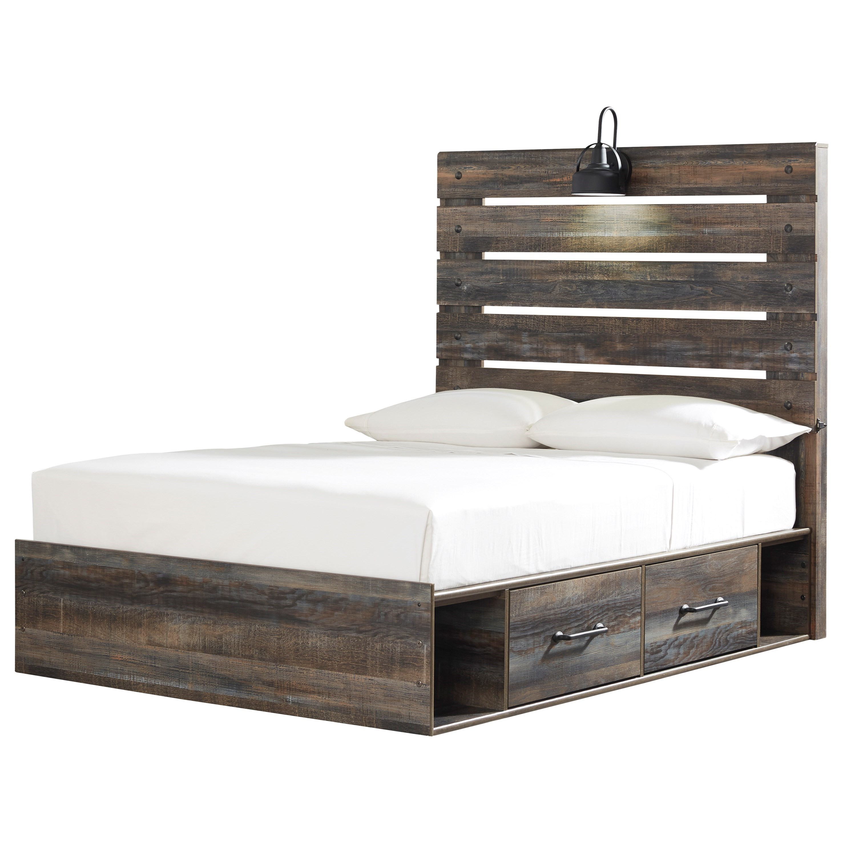 Drystan Full Storage Bed with 2 Drawers by Ashley (Signature Design) at Johnny Janosik