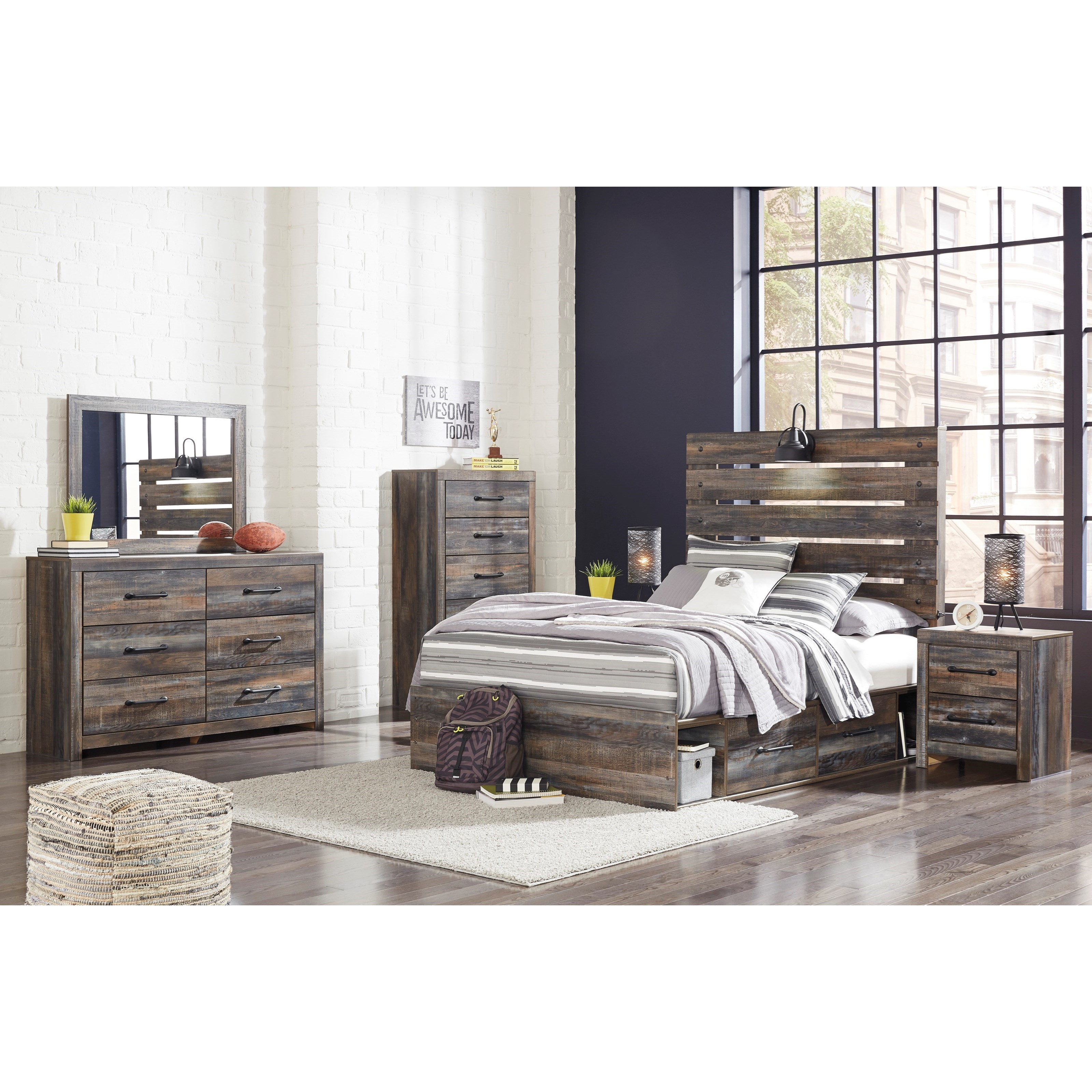 Ashley Furniture Superstore: Signature Design By Ashley Drystan Rustic Full Storage Bed