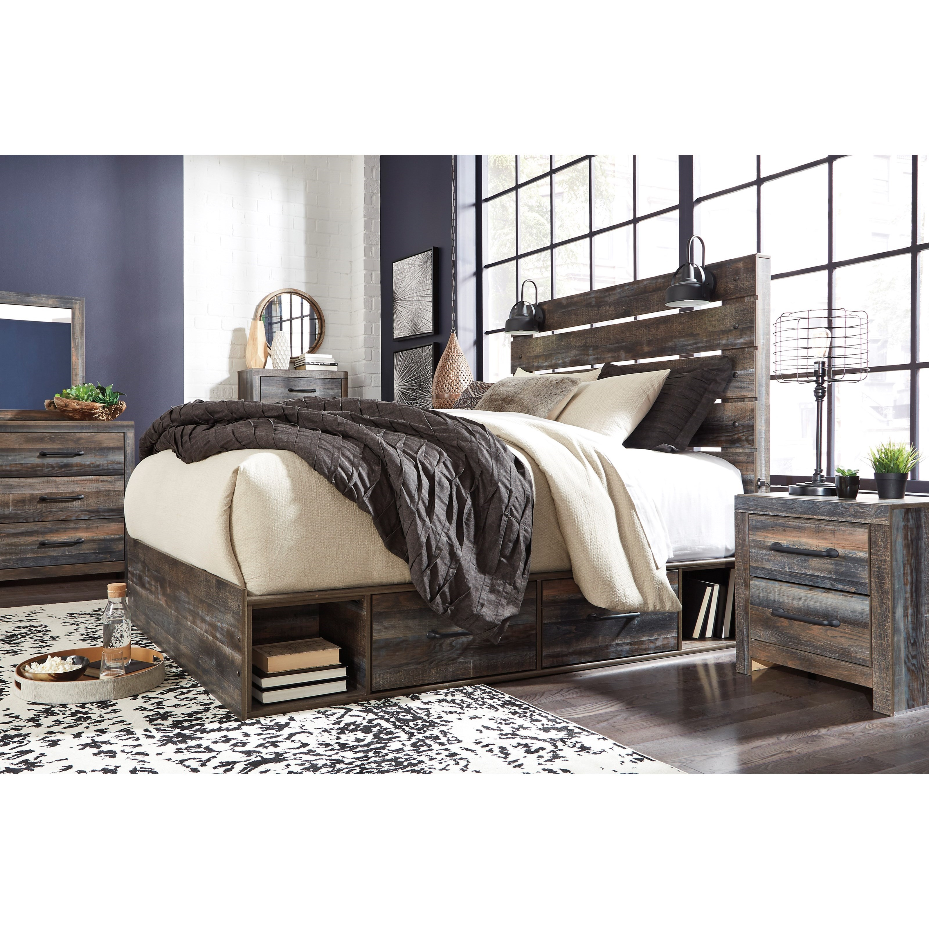 Signature Design By Ashley Drystan Rustic Two Drawer