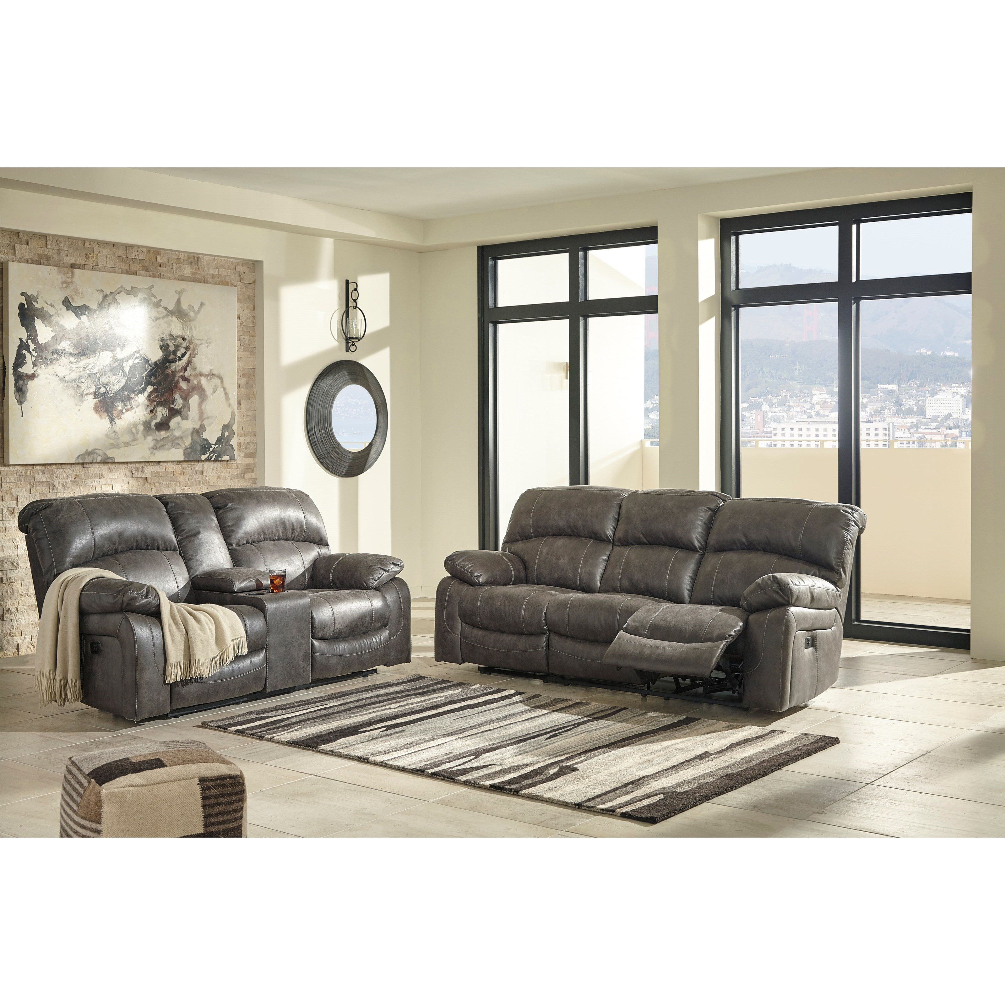 Signature Design by Ashley Dunwell Reclining Living Room Group ...