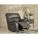 Signature Design by Ashley Dunwell Faux Leather Power Rocker Recliner w/ Adjustable Headrest