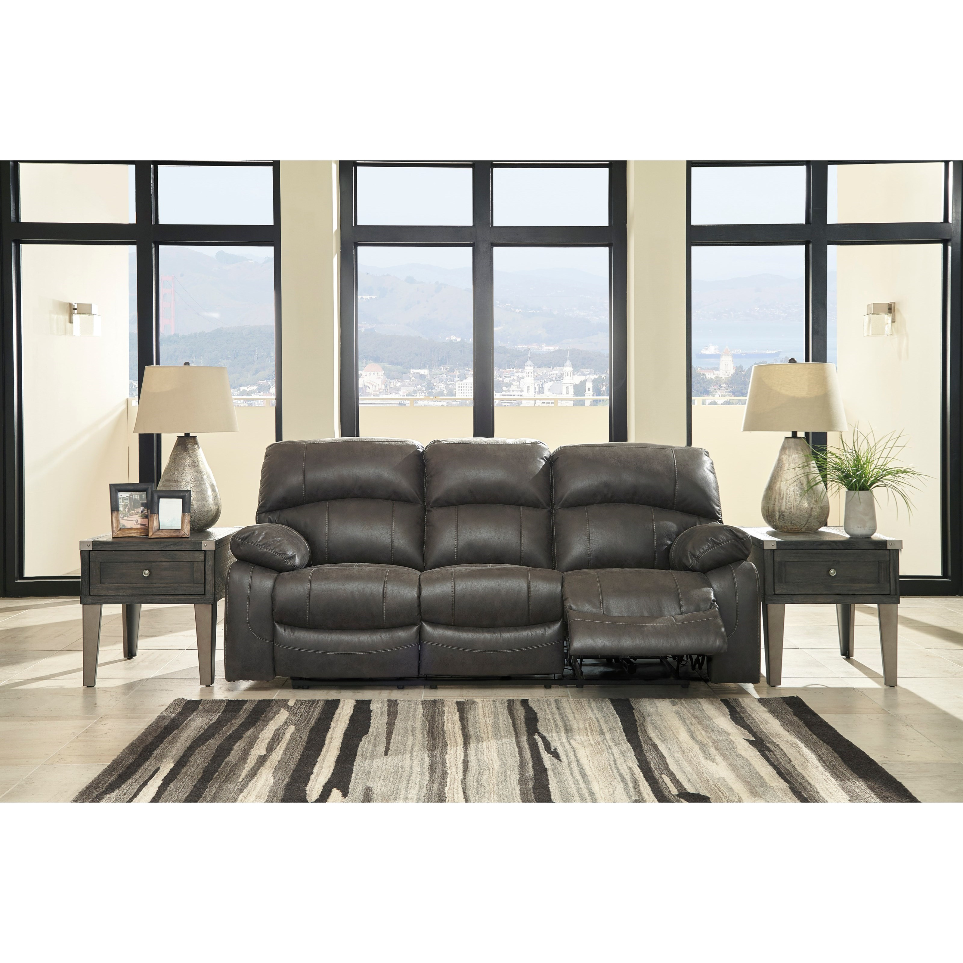 Signature Design By Ashley Dunwell Faux Leather Power