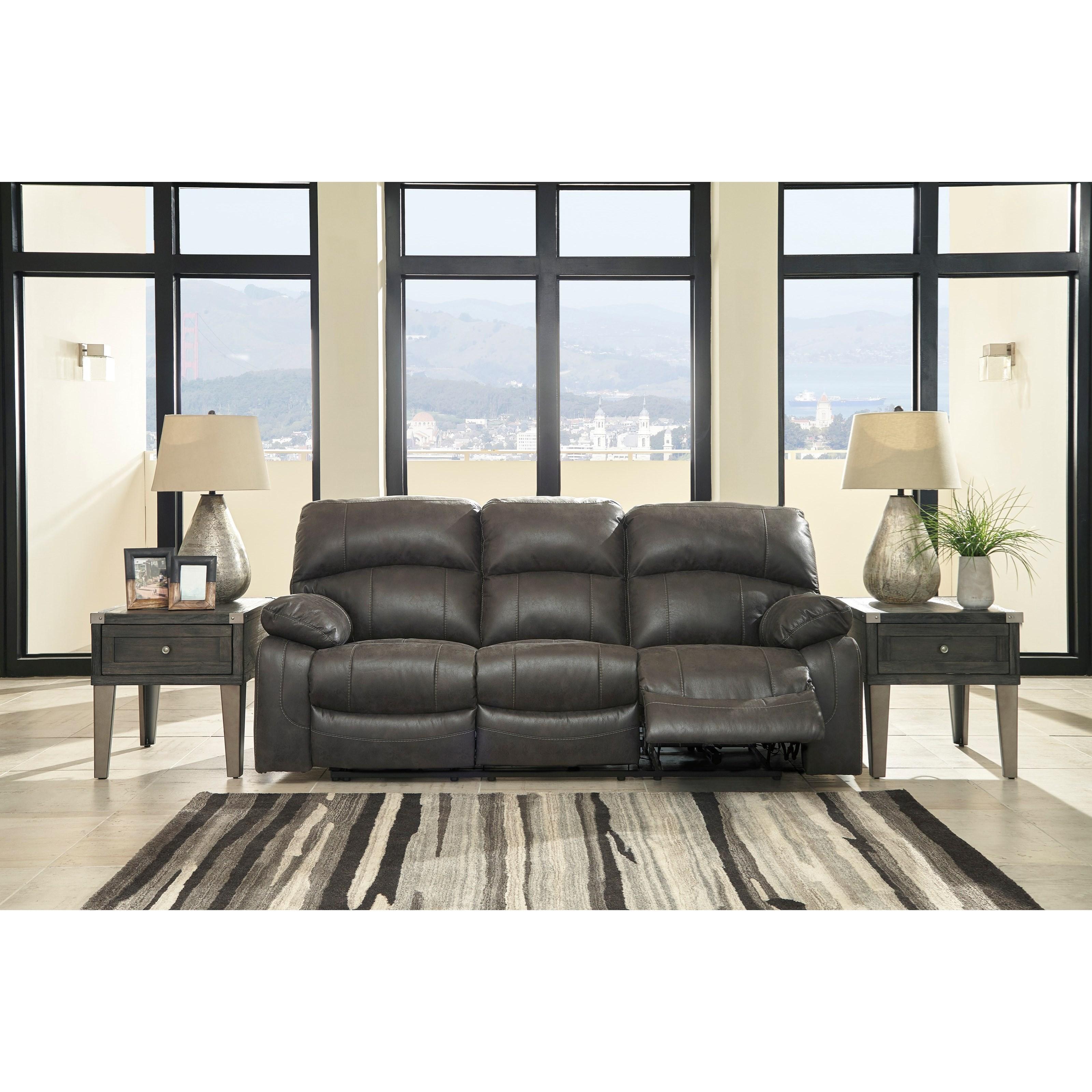 Ashley Furniture Store Kansas City: Signature Design By Ashley Dunwell Faux Leather Power