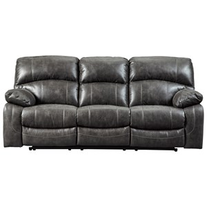 Signature Design by Ashley Dunwell Power Reclining Sofa w/ Adjustable Headrests
