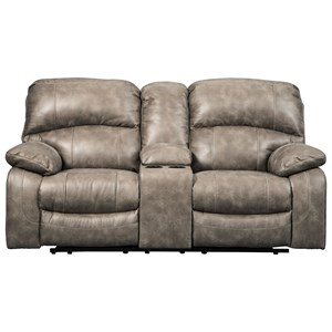Signature Design by Ashley Dunwell Power Loveseat w/ Adj. Headrests & Console