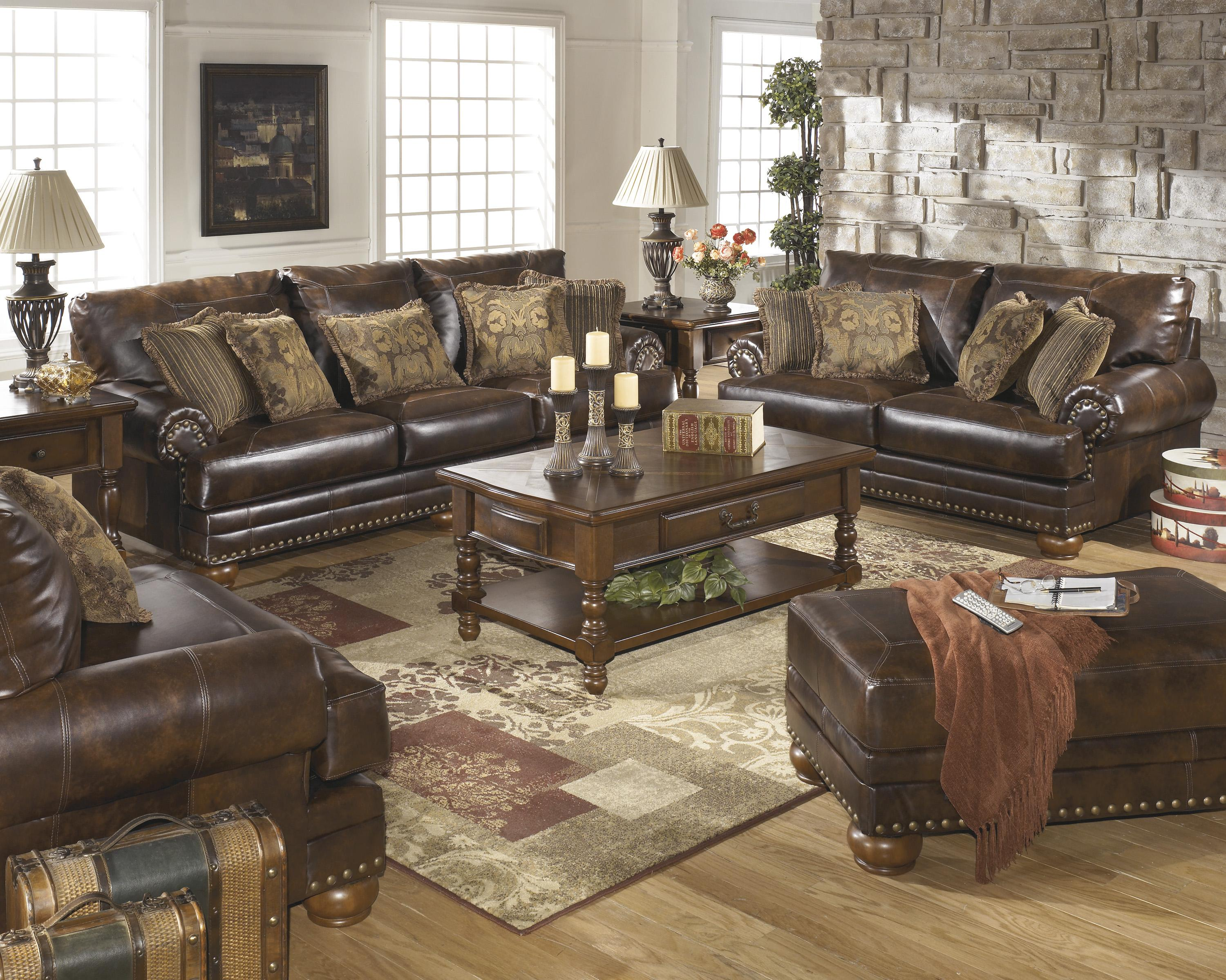 Signature Design by Ashley Chaling DuraBlend® - Antique Stationary Living Room Group - Item Number: 99200 Living Room Group 2