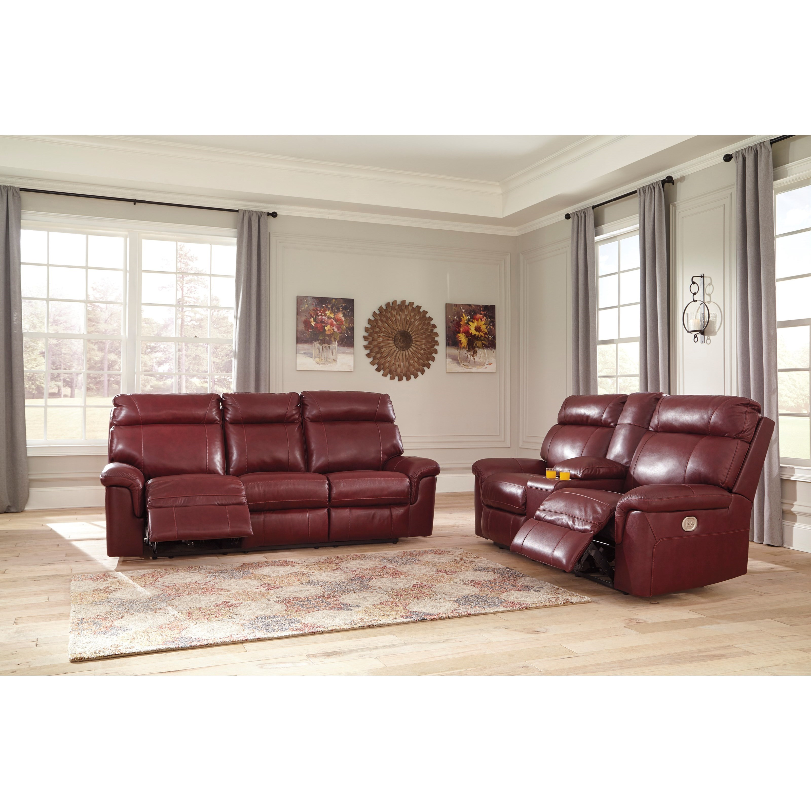 Signature Design by Ashley Duvic Reclining Living Room Group - Item Number: 56202 Living Room Group 1