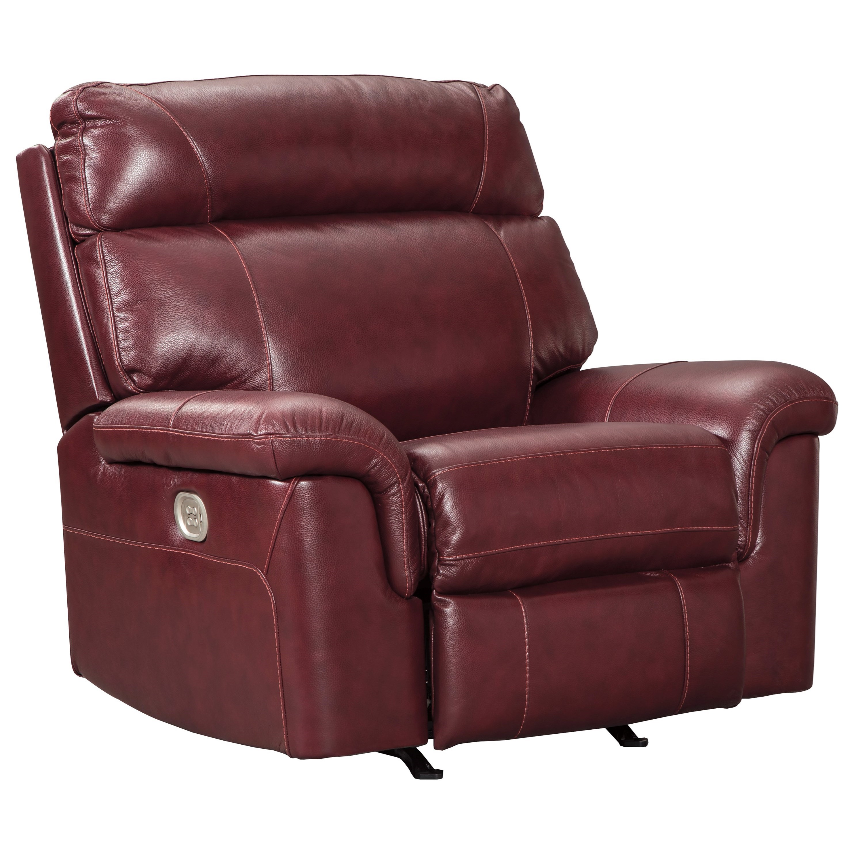 Signature Design by Ashley Duvic Power Recliner w/ Adjustable Headrest - Item Number: 5620213