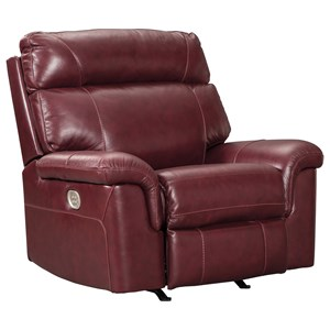 Signature Design by Ashley Duvic Power Recliner w/ Adjustable Headrest