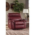 Signature Design by Ashley Duvic Leather Match Power Recliner w/ Adjustable Headrest