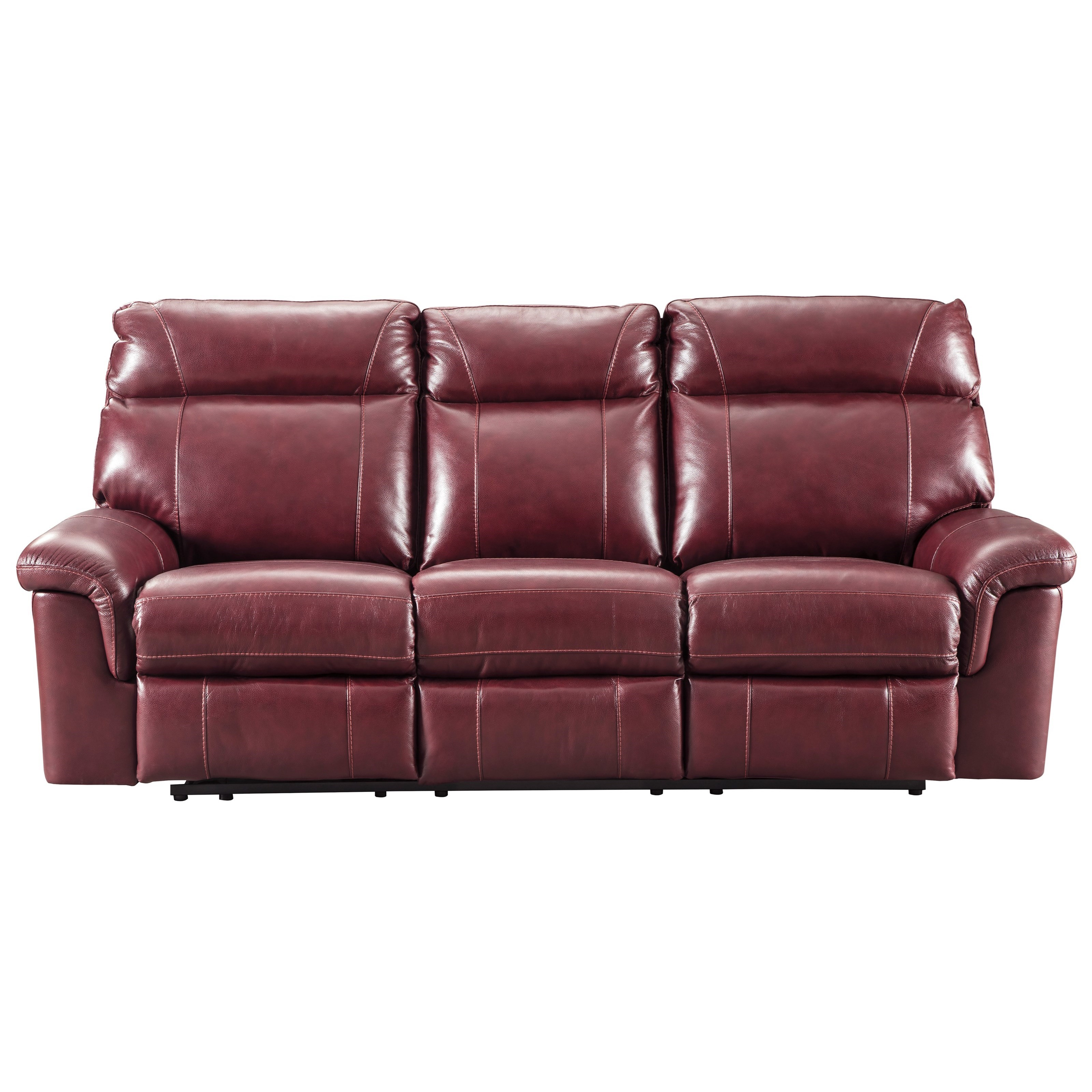 Signature Design by Ashley Duvic Power Reclining Sofa w/ Adjustable Headrests - Item Number: 5620215