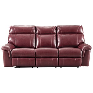 Signature Design by Ashley Duvic Power Reclining Sofa w/ Adjustable Headrests