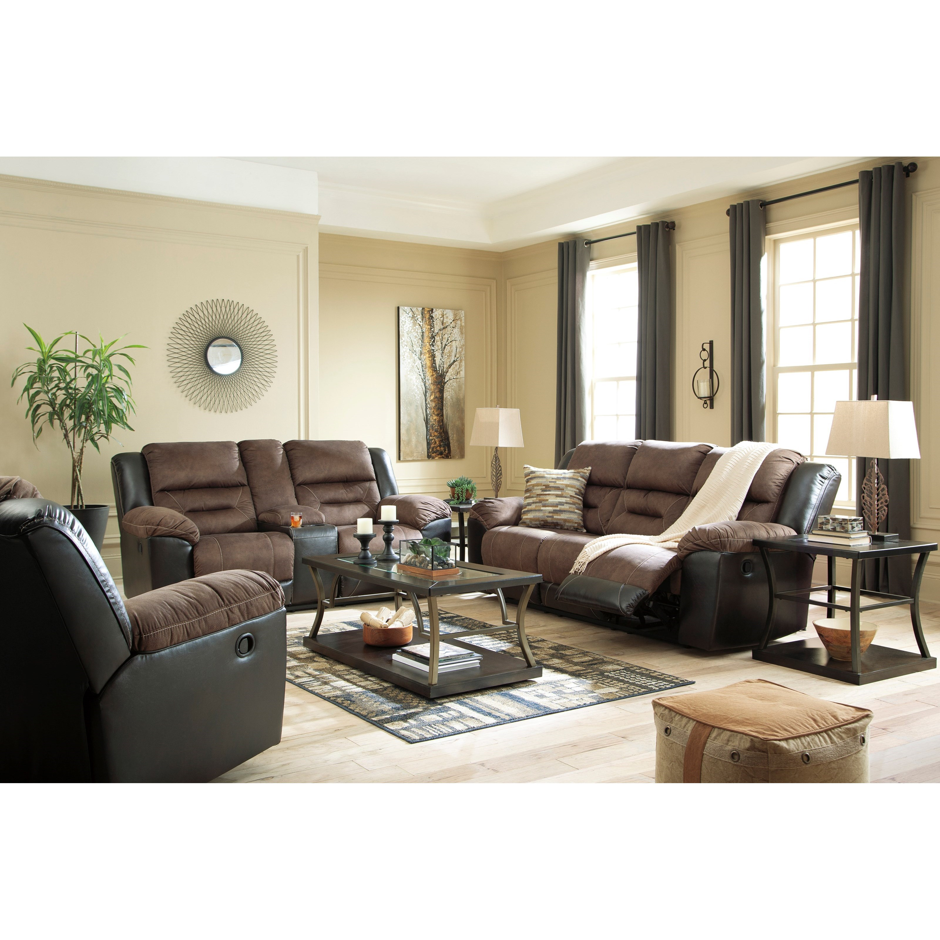 Earhart Recling Living Room Group by Ashley (Signature Design) at Johnny Janosik