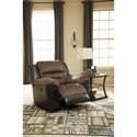 Signature Design by Ashley Earhart Casual Rocker Recliner with Pillow Arms