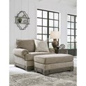 Signature Design by Ashley Einsgrove Chair and a Half with Ottoman - Item Number: 3230223+14